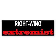 Right-Wing Extremist Bumper Bumper Sticker