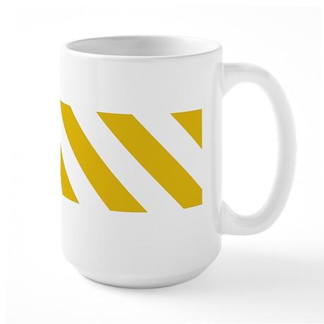 Mustard Yellow Diagonal Stripes Large Mug