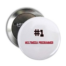 "Number 1 MULTIMEDIA PROGRAMMER 2.25"" Button"