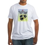 Plymouth Rock Rooster, Hen & Fitted T-Shirt