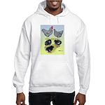 Plymouth Rock Rooster, Hen & Hooded Sweatshirt
