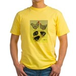 Plymouth Rock Rooster, Hen & Yellow T-Shirt