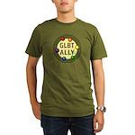 Ally Baubles -GLBT- Organic Men's T-Shirt (dark)
