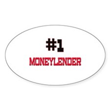 Number 1 MONEYLENDER Oval Decal