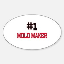 Number 1 MOLD MAKER Oval Decal