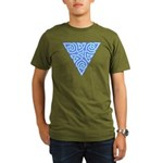 Serene Triangle Knot Organic Men's T-Shirt (dark)