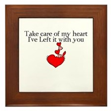 Take Care of My Heart Framed Tile