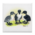 Swedish Duck Ducklings Tile Coaster