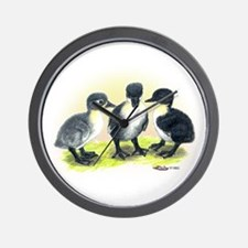 Swedish Duck Ducklings Wall Clock