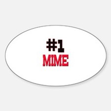 Number 1 MIME Oval Decal