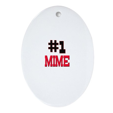 Number 1 MIME Oval Ornament