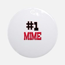 Number 1 MIME Ornament (Round)