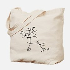"Darwin Notebook - ""I think"" Tote Bag"