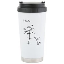 "Darwin Notebook - ""I think"" Thermos Mug"
