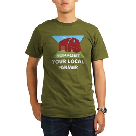 Support Your Local Farmer Organic Men's T-Shirt (d