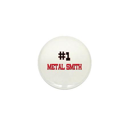 Number 1 METAL SMITH Mini Button