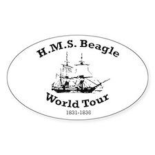 HMS Beagle world tour Oval Decal