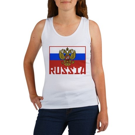 Russian Flag Women's Tank Top