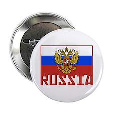 "Russian Flag 2.25"" Button"