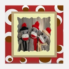 Sock Monkeys Tile Coaster
