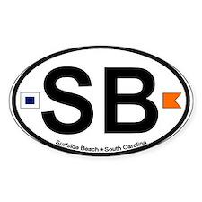 Surfside Beach SC Oval Decal