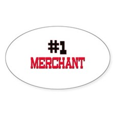 Number 1 MERCHANT Oval Decal