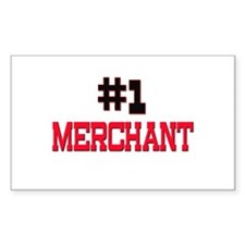 Number 1 MERCHANT Rectangle Decal