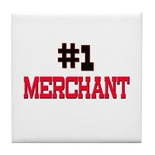 Number 1 MERCHANT Tile Coaster