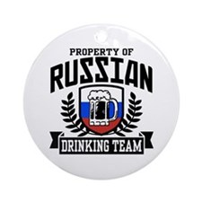Russian Drinking Team Ornament (Round)
