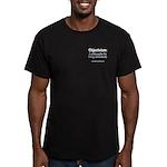 Objectivist Living Men's Fitted T-Shirt (dark)
