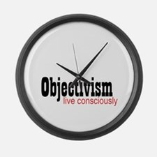 Objectivist Living Large Wall Clock