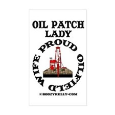 Oil Patch Lady Rectangle Sticker,Oil Rig,Oil