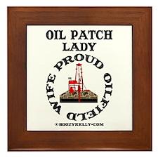 Oil Patch Lady Framed Tile,Oil Field Wife,Oil