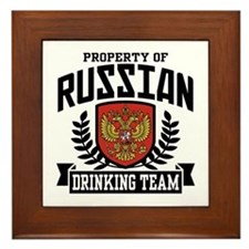 Russian Drinking Team Framed Tile