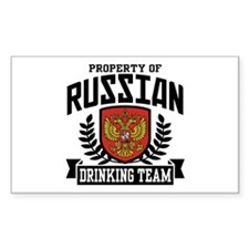 Russian Drinking Team Rectangle Decal