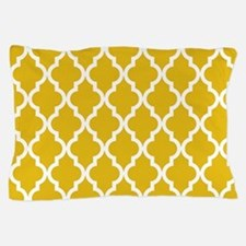 Mustard Yellow Moroccan Pattern Pillow Case