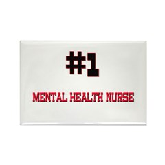 Number 1 MENTAL HEALTH NURSE Rectangle Magnet