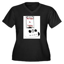 Mortician Women's Plus Size V-Neck Dark T-Shirt