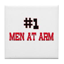 Number 1 MEN AT ARM Tile Coaster