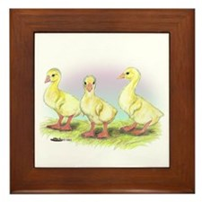 Chinese Geese Goslings Framed Tile