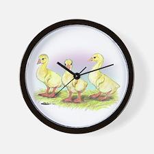 Chinese Geese Goslings Wall Clock