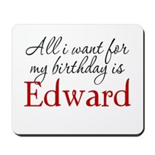 Birthday Edward Mousepad