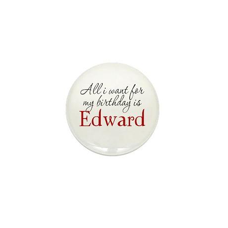 Birthday Edward Mini Button