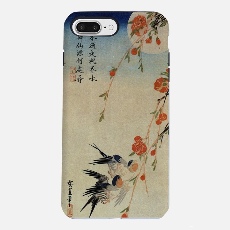 Swallow and peach flowers iPhone 7 Plus Tough Case