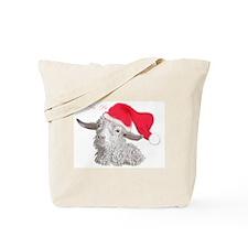 Angora Doeling Santa Hat Tote Bag