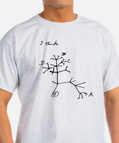 "Darwin Notebook - ""I think"" T-Shirt"