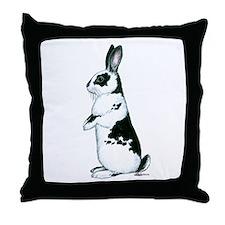 Black and White Rabbit Throw Pillow