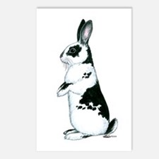 Black and White Rabbit Postcards (Package of 8)