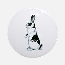 Black and White Rabbit Ornament (Round)
