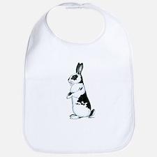 Black and White Rabbit Bib